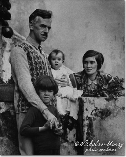 Eugene O'Neill, with family