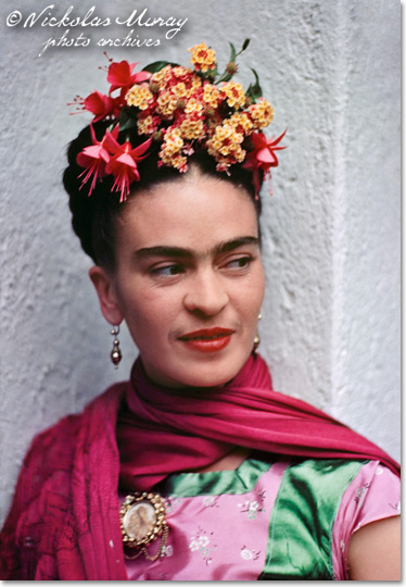 Frida in Pink and Green Dress