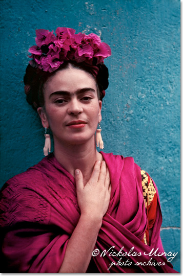 Frida with Picasso earrings