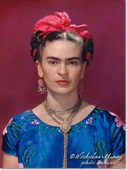 Frida in Blue Dress
