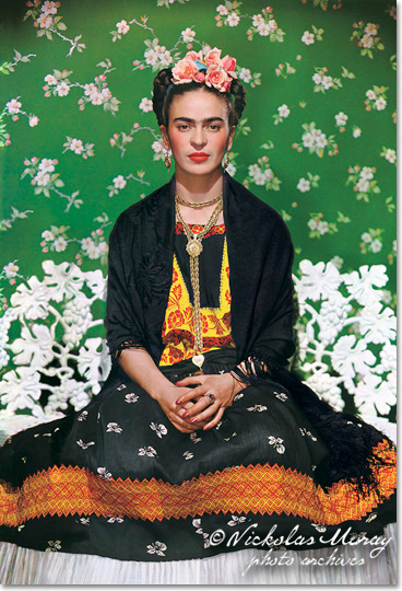 Frida Kahlo by Nickolas Muray. Image via Nickolas Muray.com