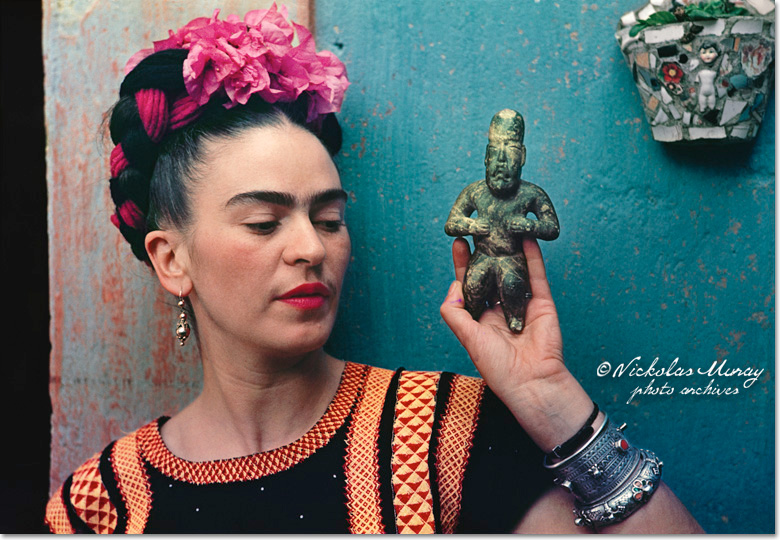 Frida with Idol by Nikolas Muray. Image via Nickolas Muray.com